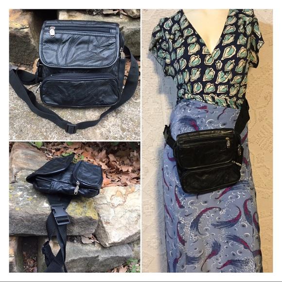 Vintage Handbags - Large Vintage Patchwork Leather Fanny Pack Unisex